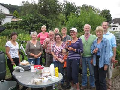 Allotment tidying with tea andcake